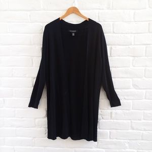 Dialogue Plus Size Black Knit Cardigan Size 1X